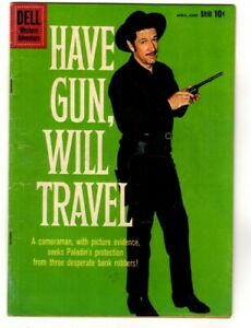 HAVE GUN WILL TRAVEL #5 VARIANT VG 4.0 Richard Boone COVER DELL Comics 1960
