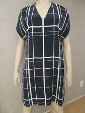 "Vince. Vince Camuto Women""s Navy White Silk Dress Tunic Sz S New NWOT Stripes"
