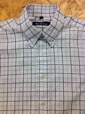 men's BEN SHERMAN (2) Medium, Blue Check, Long Sleeve Shirt. Superb