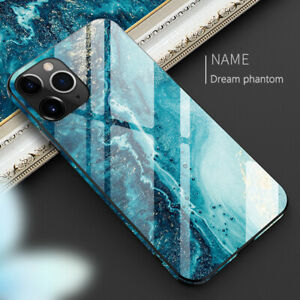 Shockproof Marble Tempered Glass Case Cover For iPhone 12 11 Pro Max XS XR X 8 7