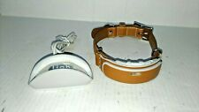 Link AKC Smart Dog Collar GPS Tracker Activity Monitor Leather
