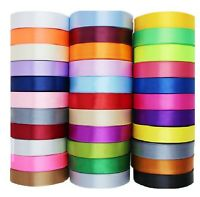 "15 ROLLS of  SATIN RIBBON, 25MM/1"", 25 Yards rolls,15 nice Colours, High Quality"