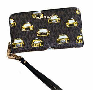 Michael Kors Jet Set Large Phone Wristlet Wallet MK Powder Blush Pink