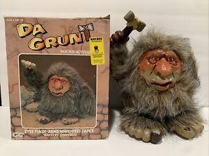 "Vintage ""Da Grunt"" Battery Powered Caveman Troll Doll Unity Creations 1989"