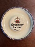 Konigsbacher Brauerei Koblenz Ashtray Porcelain Metal