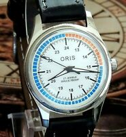 Vintage Swiss Movement FHF ST 96 Manual Winding Mens Watch Mint Condition.