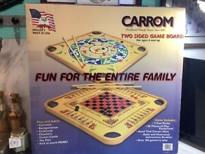 Vintage Carrom-Merdel 100 ,TWO Sided game board, made in the USA NEW