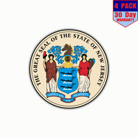 New Jersey USA State Seal Car Bumper Sticker Decal 5/'/' x 5/'/'