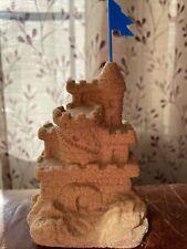 New listing Mr. Sandman 80's W/Flag Real Sand Castle Sculpture 4.5� Tall