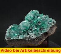 7439 Fluorit UV ca 10*7*3 cm daylight fluorescence Rogerley Mine GB 2014 MOVIE