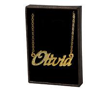 18k Plateó la Collar de Oro Con el Nombre - OLIVIA - Regalos Para las Mujeres