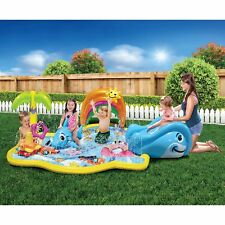 Home Outdoor Backyard Swimming Activity Kids Splash Inflatable Water Park Slide