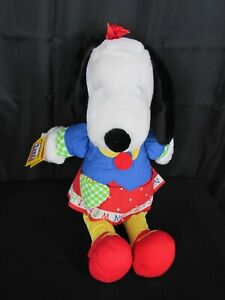 Applause Belle Peanuts Learn and Play Woodstock Zip Tie Count Red Plush Toy Vtg