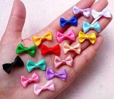 80pcs Mini Tie/Tiny Satin Bows Mix Hair Accessory Jewellery Making Wedding