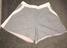 Women's Grey white stripe Size 8 River Island Tailored Shorts