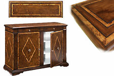 Solid Walnut Sideboard with Chestnut Inlays   Rustic style Buffet High End