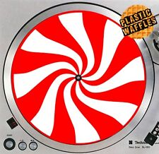 """Peppermint Stripes Red White Slipmat Turntable 12"""" Record Player DJ Audiophile"""