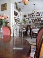 Vintage Blockvase Glasvase Blumenvase rechteckig 70er Jahre