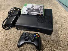 Microsoft Xbox 360 S Slim Bundle 320GB Matte Black Console w/Controller & Games