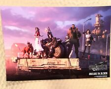 FINAL FANTASY VII REMAKE PROMO POSTER PAX EAST 2020 2-SIDED CLOUD, TIFA, AERITH