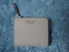 Kate Spade Cameron Small Saffiano Leather L-Zip Bifold Wallet~Soft Taupe~NWT!!!