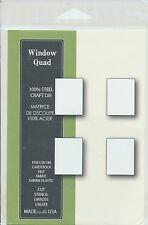 """Memory Box Die Window Quad 0.9x1.2"""" Stanzschablone 4 Rechtecke von 2,4x3,1 cm"""