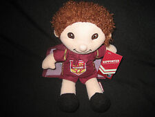 QUEENSLAND STATE OF ORIGIN MAROONS DOLL Wearing CAPE,  with Tags - NEW!