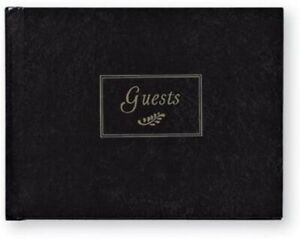 C.R. Gibson Black and Silver Foiled Guest Book (G3-5971)