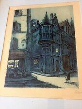 MARCEL JULIEN BARON (French Modernist 1872-1956) Pencil Signed Color Etching No3