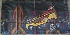 "Hot wheels japan mooneyes drag bus banner. Left facing. Banner is 34""×17"""
