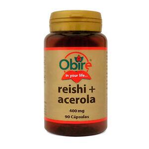 REISHI +ACEROLA 400 mg 90 Cápsulas - OBIRE -