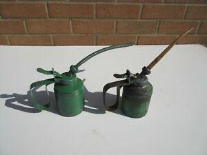 2 vintage green Wesco oiler oil cans 1963 & 1965
