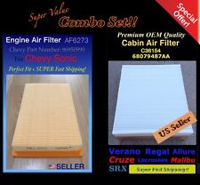 AF6273 C36154 Engine&Cabin Air Filter For Chevy Sonic 2012-2016 96950990