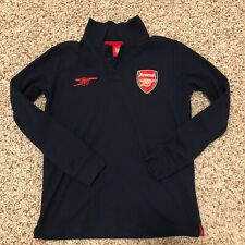 Arsenal FC Official Football Youth Crest Polo Shirt Navy Soccer Collectors Item