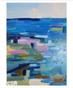 CORBELLIC ORIGINAL Painting IMPRESSIONISM SEASCAPE COLLECTIBLE FINE ART SIGNED