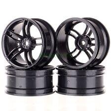 "4pcs Black RC model car 1.9"" wheel rims fit 1:10 4WD On-road Drift Racing 9065"