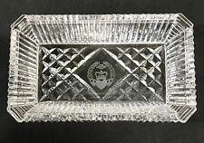 Waterford Crystal w/ Etched Claddagh & Celtic Knot Open Candy Box / Tray