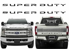 Front & Rear Black Super Duty Tailgate Letters For 2017+ F-250/F-350/F-450 New