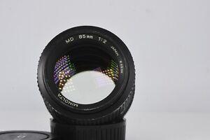 MINOLTA MD 85mm f/2 MF Lens /w caps nice
