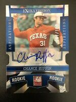 CHANCE RUFFIN 2010 Elite Extra Aspirations Die-Cut AUTO RC /100 Longhorns Tigers