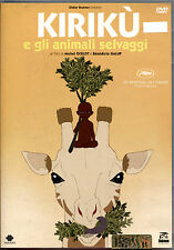 KIRIKU' E GLI ANIMALI SELVAGGI - DVD EX-RENTAL, PERFETTO, OFFERTA!