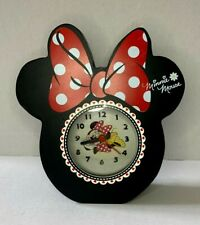 More details for disneys minnie mouse shaped alarm clock