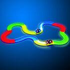 Circuit Magic track lumineux pour enfant - 220 pièces de circuits créa light