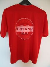 Bingtang Pilsner Beer Bali Indonesia Red T Shirt Large ( L )