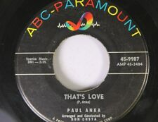 Rock 45 Paul Anka - That'S Love / (All Of A Sudden) My Heart Sings On Paramount