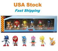 Sonic The Hedgehog Mini Figure Collector's Set, 6 Pcs, Kids, Gifts, Cake Toppers