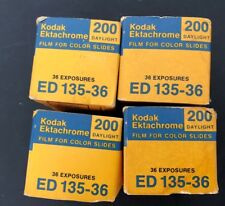 Vtg Kodak Ektachrome Color Slide Film 200 daylight ED 135-36 Lot of 4