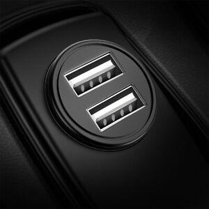 Fast USB Car Charger Cigarette Lighter Socket 2 Port Adapter For iPhone Samsung
