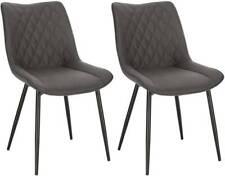 2er Set Esszimmerstühle Küchenstühle Sitzfläche aus Samt Metallbeine BH248dgr-2
