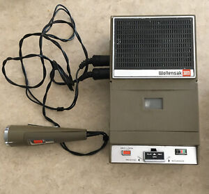 Vintage WOLLENSAK 3M Solid State Tape Recorder w/Carrying Cases & Microphone